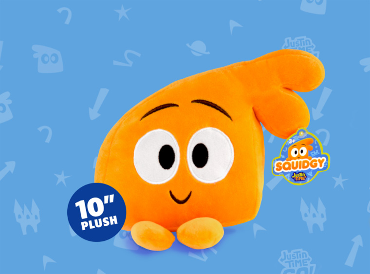 Justin Time Squidgy plush toy