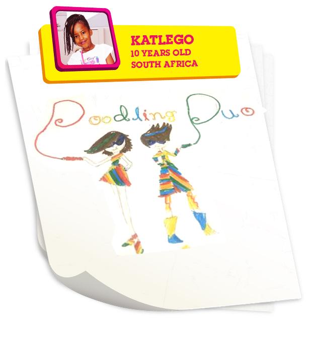 Doodling Duo, by Katlego