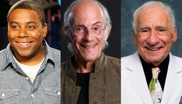 Kenan Thompson, Christopher Lloyd, and Mel Brooks