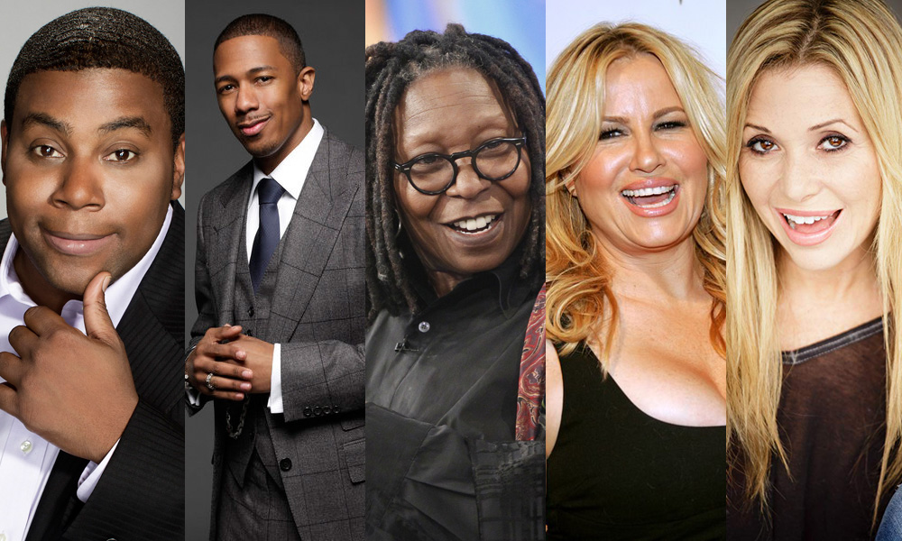 Kenan Thompson, Nick Canon, Whoopi Goldberg, Jennifer Coolidge, E.G. Daily