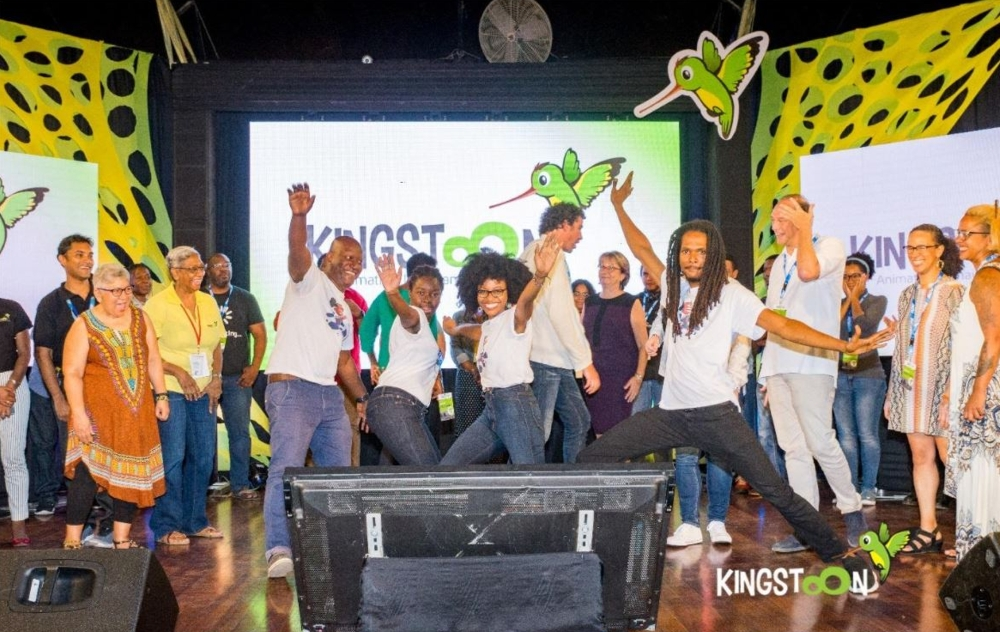 First Place winners of the Pitch Competition celebrating at KingstOOn 2019