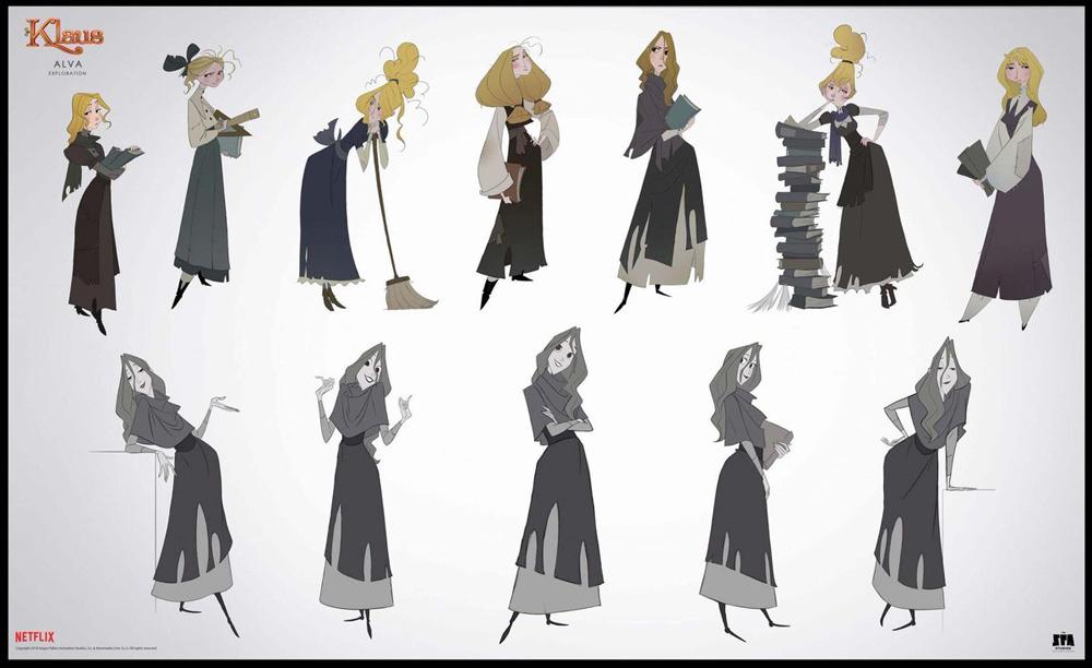 Alva character designs by Torsten Schrank