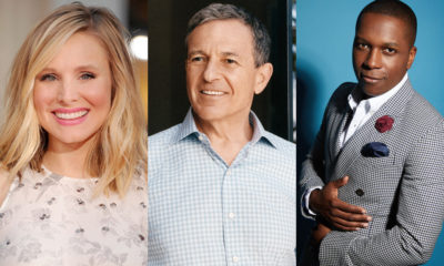 Kristen Bell, Bob Iger, and Leslie Odom Jr