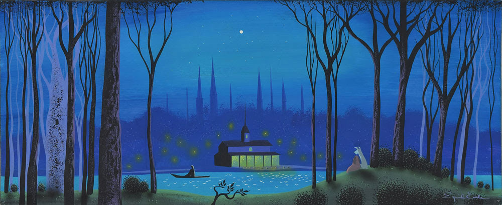 Lady and the Tramp concept art by Eyvind Earle