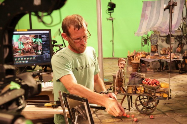 Laika's David Pugh on set of Boxtrolls
