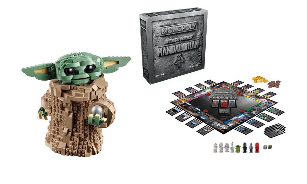 LEGO The Child set, The Mandalorian Monopoly from Hasbro