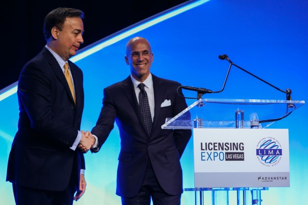 DreamWorks Animation CEO Jeffrey Katzenberg delivers the keynote address at the 2014 Licensing Expo