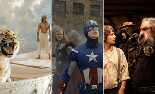 Live-action movies like Life of Pi, The Avengers and The Hobbit that put some animated pics to shame.
