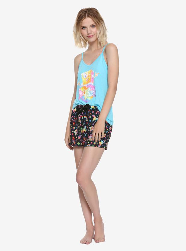 Lisa Frank x SpongeBob Girls Tank & Shorts Sleep Set, $34.90