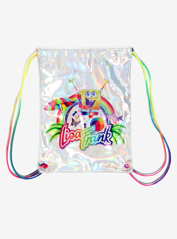 Lisa Frank x SpongeBob Holographic Drawstring Bag, $15.90