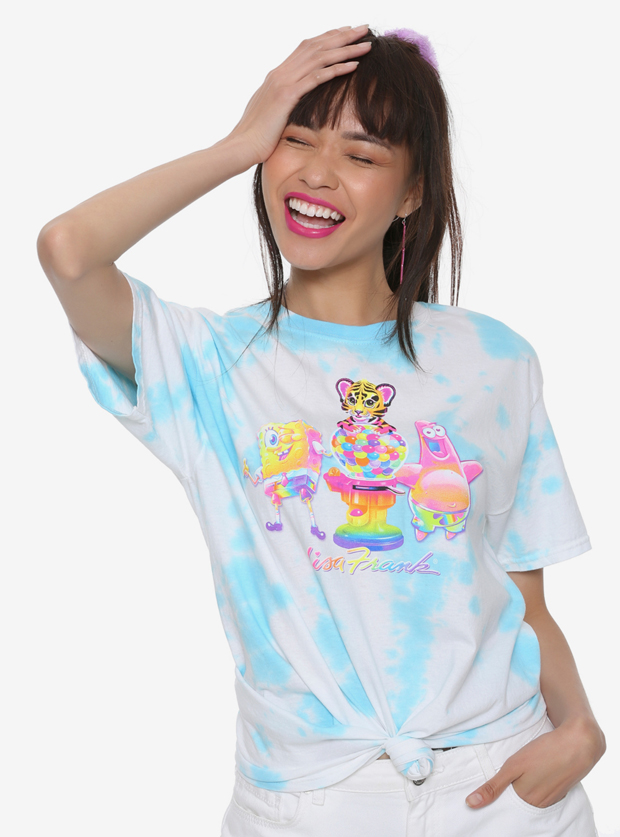 Lisa Frank x SpongeBob Girls Gumball Knotted Tee, $24.90