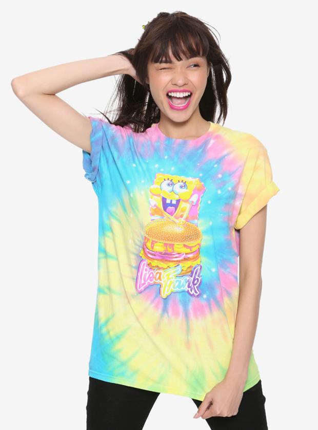 Lisa Frank x SpongeBob Girls Krabby Patty Tie-Dye Tee, $24.90