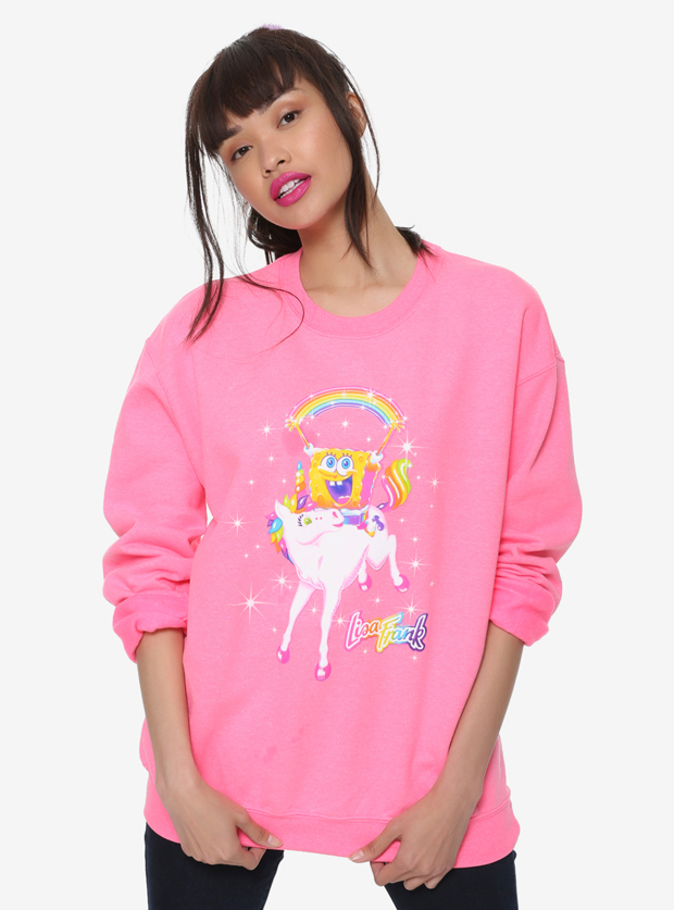 Lisa Frank x SpongeBob Girls Unicorn Pullover, $32.90