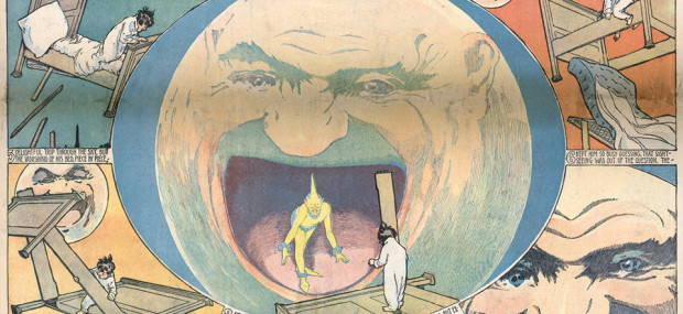 Panel from Winsor McCay's Little Nemo comic strip, which ran off and on 1905-1926.