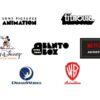 Sony Pictures Animation, Titmouse, Walt Disney Animation Studios, Bento Box, Netflix Animation, DreamWorks Animation, WB Animation
