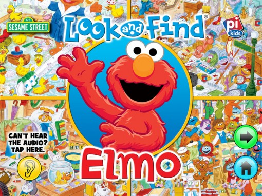 Look and Find Elmo on Sesame Street