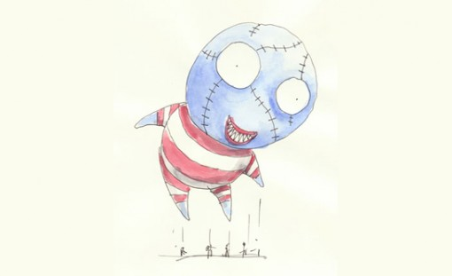 "Tim Burton's ""B. Boy"" design for the 2011 Macy's Thanksgiving Day Parade"