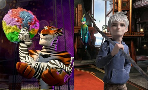DreamWorks' double treat—a rollicking summer Madagascar adventure and a magical Rise of the Guardians holiday gem.