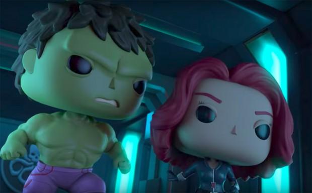 Marvel Funko Hulk and Black Widow