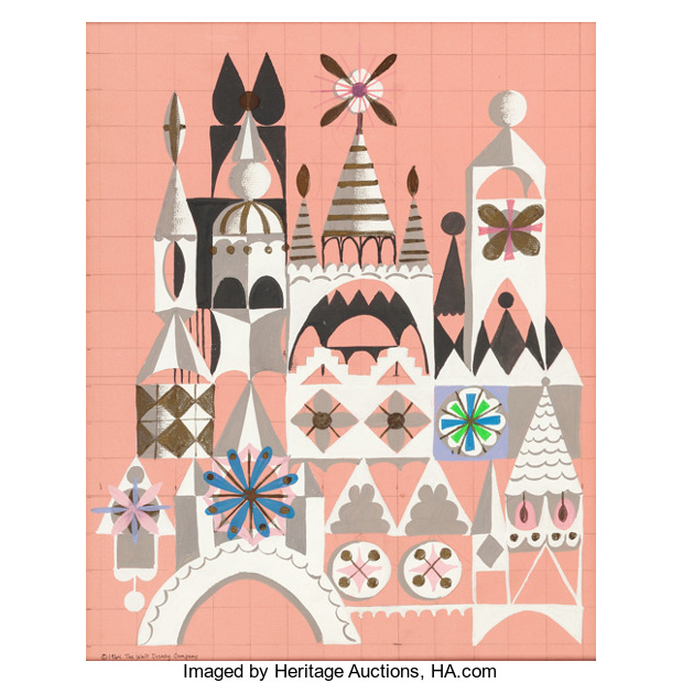 "Mary Blair ""It's a Small World"" Disneyland Painting"