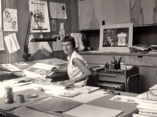 Mary Blair in her home studio