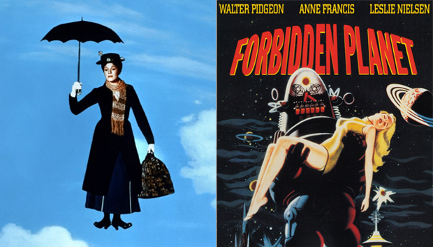 Mary Poppins / Forbidden Planet