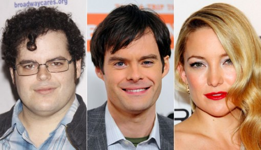 (from left) Josh Gad, Bill Hader and Kate Hudson