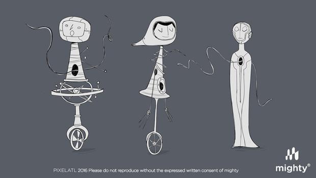 Mighty Animation Pixelatl concept art