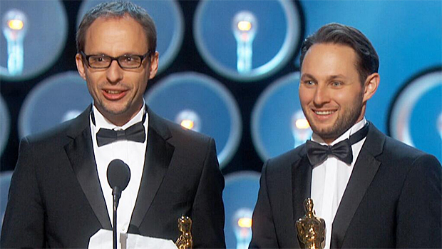 Oscars 2014: Laurent Witz and Alexandre Espigares win best animated short award for Mr. Hublot