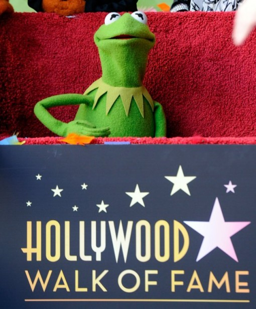 Kermit the Frog who along with the other Muppets were honored with 2,466th Star on the Hollywood Walk of Fame in front of the El Capitan Theatre on March 20, 2012 in Hollywood, California. (Photo by Frazer Harrison/Getty Images)