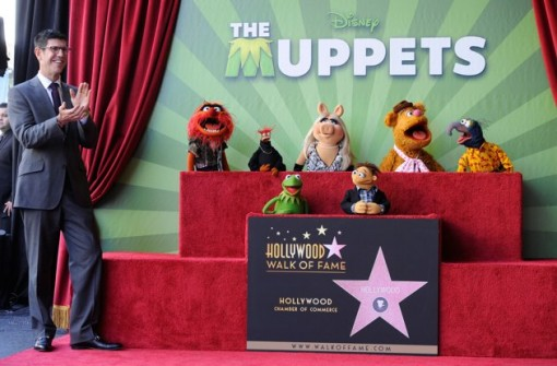 (L-R) Walt Disney Studios President Rich Ross, attends the star unveiling ceremony for The Muppets who were honored with 2,466th Star on the Hollywood Walk of Fame in front of the El Capitan Theatre on March 20, 2012 in Hollywood, California. (Photo by Frazer Harrison/Getty Images)