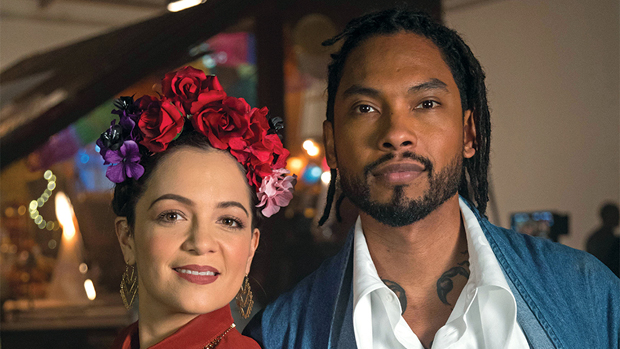 Natalia Lafourcade and Miguel