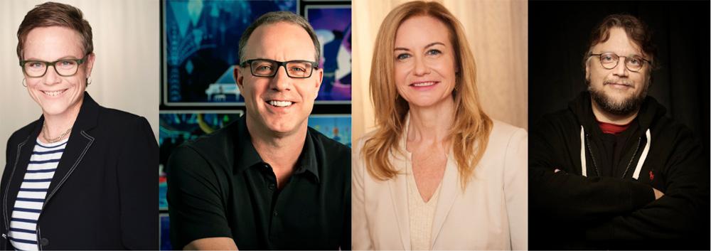 L-R: Chris Nee, Kirk DeMicco, Clare Knight, Guillermo Del Toro
