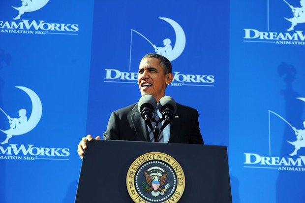 President Obama visits DreamWorks Animation