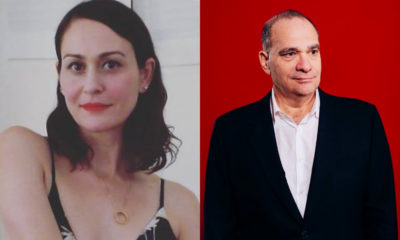 Pantea Ghaderi and Bob Weinstein