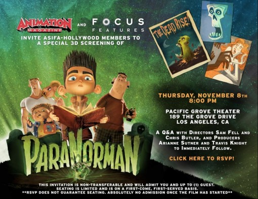 ParaNorman Screening Ticket Giveaway!