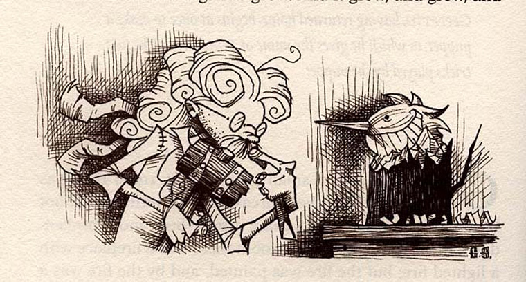 Pinocchio illustration by Gris Grimly