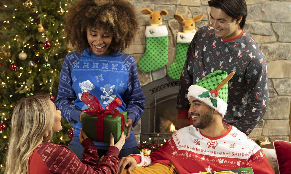 Pokemon Holiday Crew Neck Sweatshirts