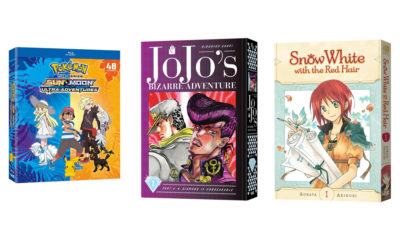 Pokemon the Series: Sun & Moon-Ultra Adventures Complete Collection, Jojo's Bizarre Adventure: Part 4 - Diamond is Unbreakable , and Snow White with the Red Hair