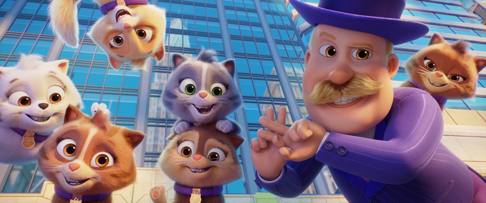 Mayor Humdinger (Ron Pardo) in PAW Patrol: The Movie, from Paramount Pictures. [Courtesy of Spin Master]