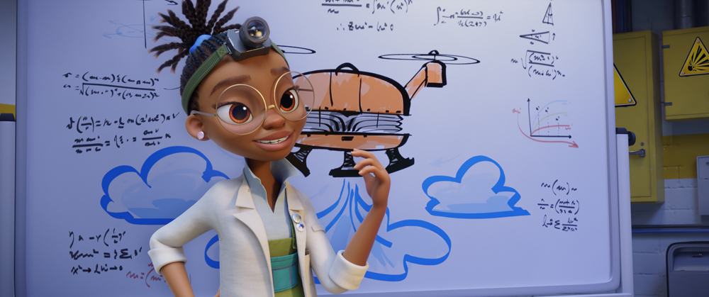Kendra Wilson (Yara Shahidi) in PAW Patrol: The Movie, from Paramount Pictures. [Courtesy of Spin Master]