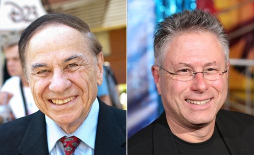 (from left) Richard Sherman and Alan Menken