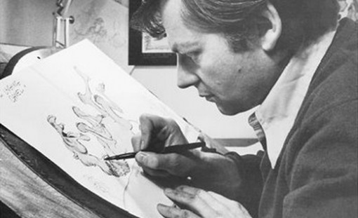 Acclaimed animation director Richard Williams at work