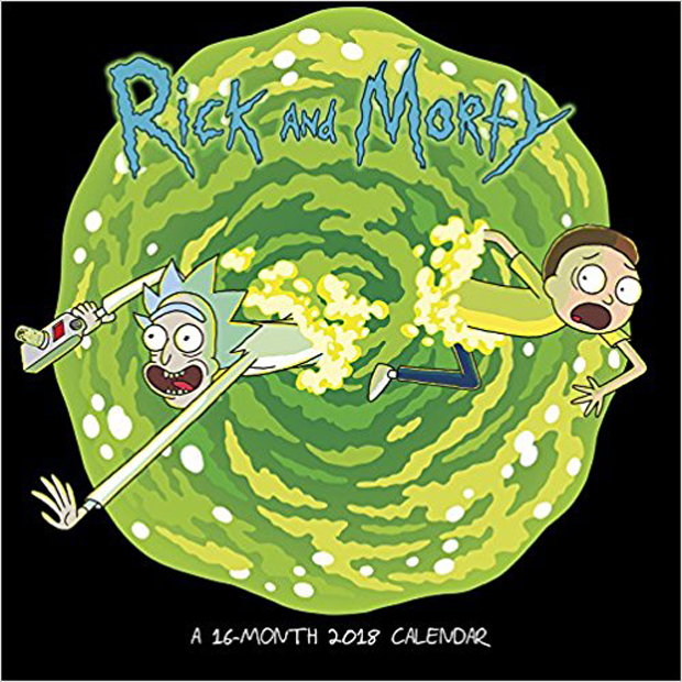 Rick and Morty 16-Month 2018 Calendar