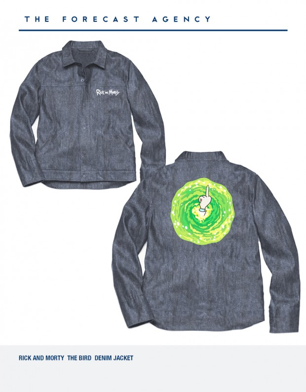 The Forecast Agency Rick and Morty denim jacket