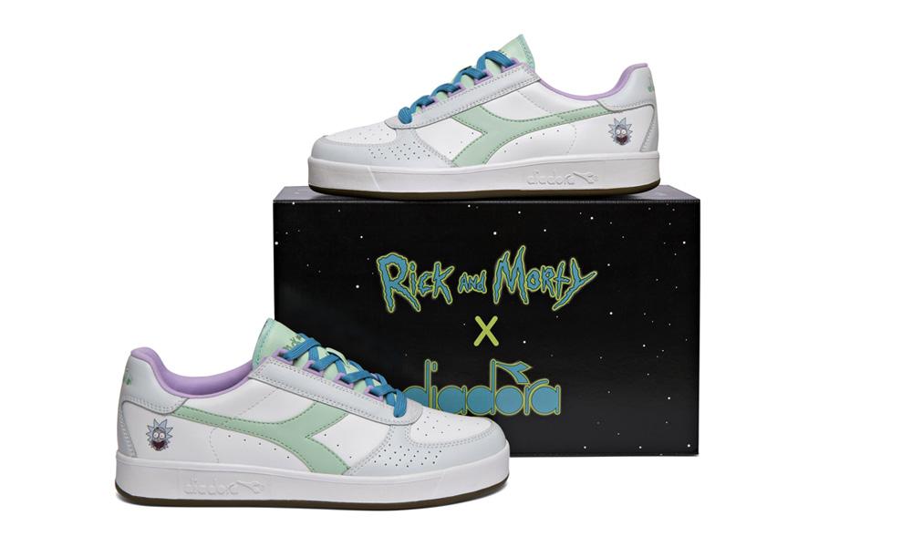 diadora x rick and morty shoes off 55