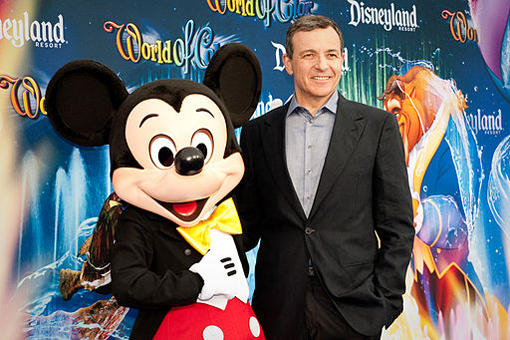 Mickey Mouse with Robert Iger