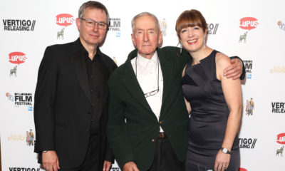 Roger Mainwood with Raymond Briggs and Camilla Deakin at the premiere of Ethel & Ernest.