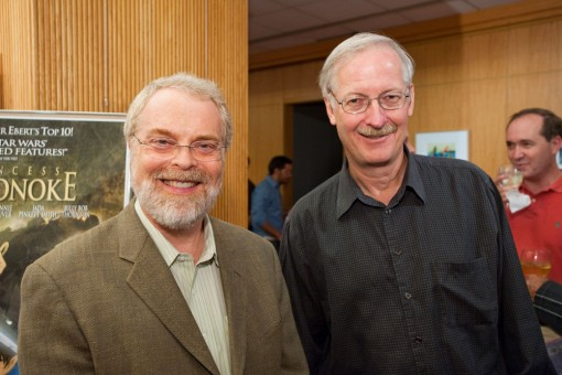 (from left) Ron Clements and John Musker