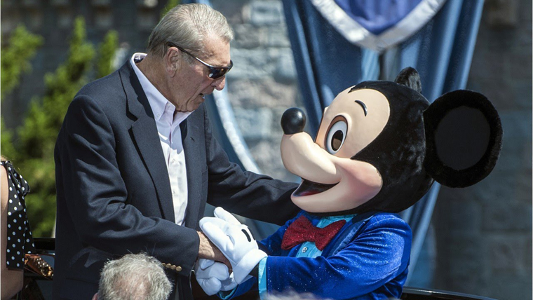 Ron Miller with Mickey